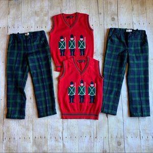 Boys 4T Christmas vest and plaid pants!🎅🏼🎄